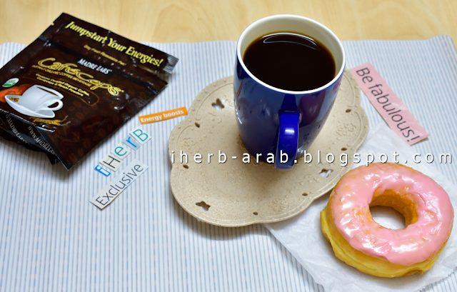 مكونات قهوة فطر الريشي العضوية