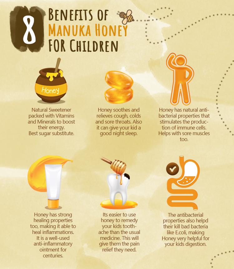 فوائد عسل مانوكا كومفيتا للاطفال